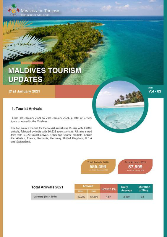 Tourism status update 21 January 2021