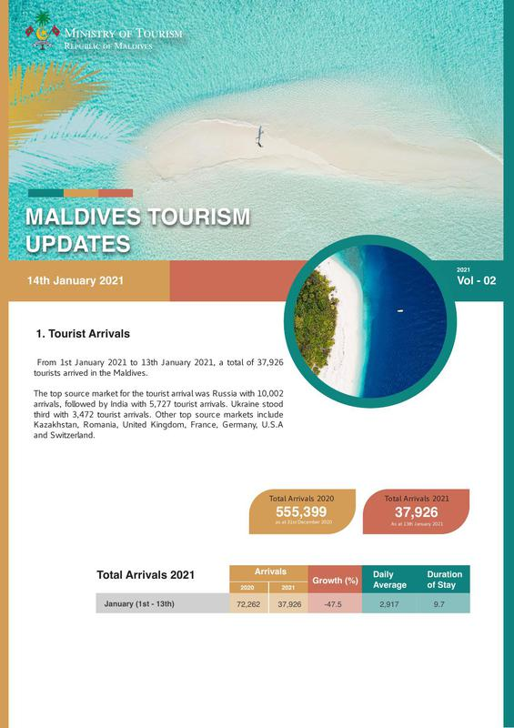 Tourism status update 14 January 2021